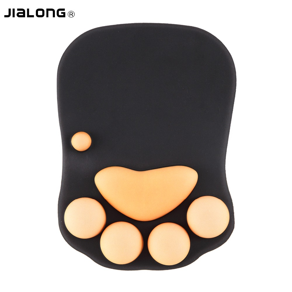 Mouse Pads Active Jialong High Quality Mouse Mat With Wrist Support Gel Mousepad Wrist Rest Ergonomic Wrist Cushion Computer Gaming Mouse Pad Desk Elegant And Sturdy Package