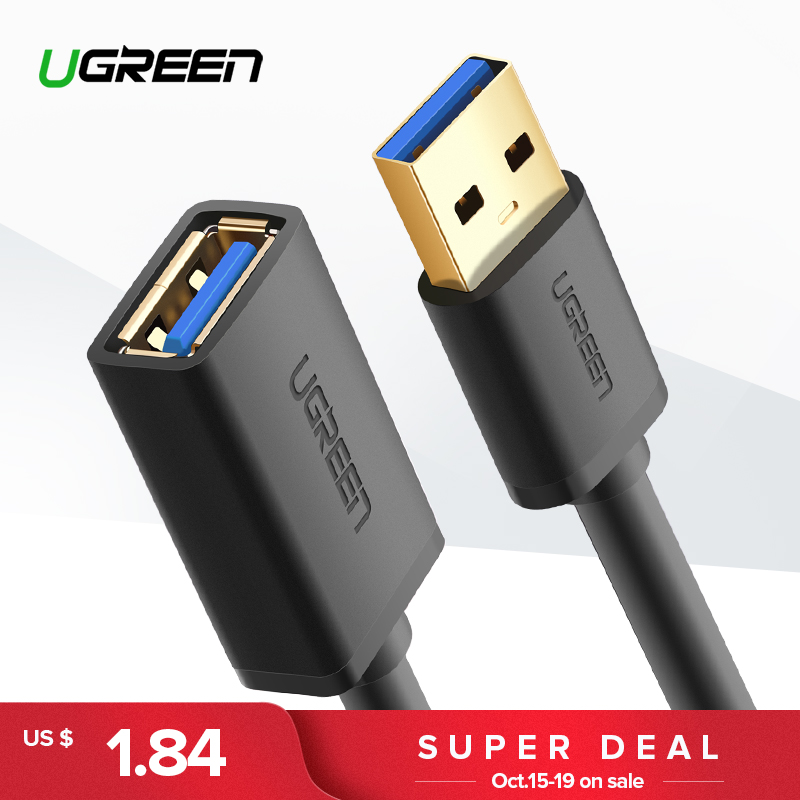 Ugreen USB Extension Cable USB 3.0 Cable for Smart TV PS4 Xbox One SSD USB3.0 2.0 to Extender Data Cord Mini USB Extension Cable vention usb extension cable usb 3 0 cable male to female usb3 0 2 0 to extender data cord mini usb extension cable