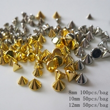 Meideheng Gold Silver plated beads for Jewelry making the punk style Hole in straight seam Dress hats accessories 8mm10mm12mm