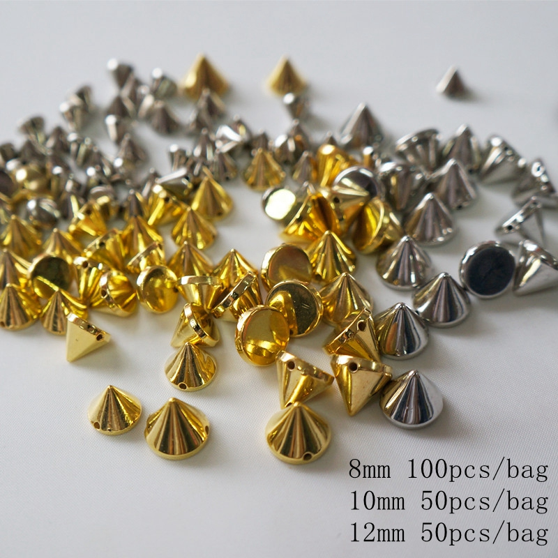 Meideheng Gold Silver plated beads for Jewelry making the punk style Hole in straight seam Dress