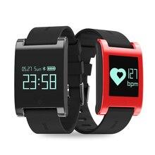Новинка 2017 года; стильное платье Смарт-часы DM68 IP67 Водонепроницаемый Bluetooth smart Сердечного ритма/монитор артериального давления шагомер для iOS и Android