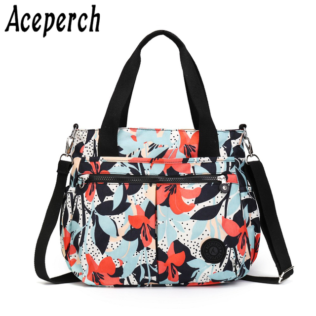 Aceperch Monkey Bags Handbags Women Bolsas Feminia Nylon Shoulder Beach Bag Female Top Handle