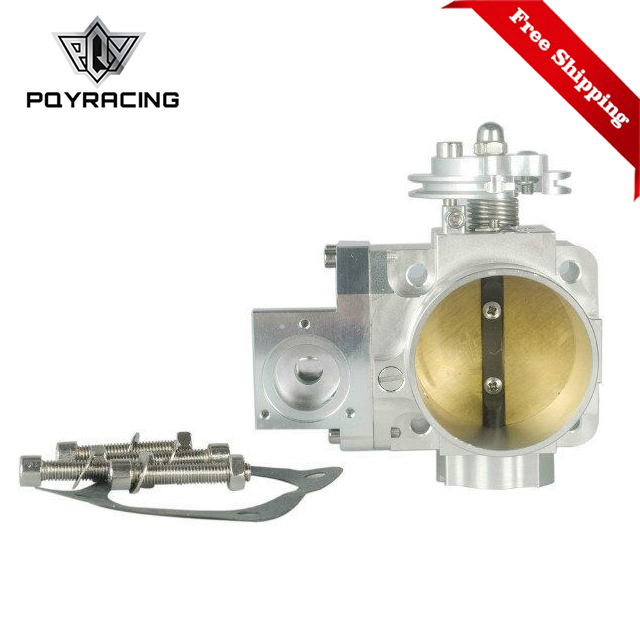 Free Shipping NEW THROTTLE BODY FOR EVO 4G63 70mm CNC Intake Manifold Throttle Body evo7 evo8 evo9 4g63 turbo PQY6948 цена