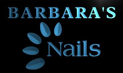 x2004-tm Barbaras Nails Custom Personalized Name Neon Sign Wholesale Dropshipping On/Off Switch 7 Colors DHL
