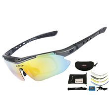 LOCLE Polarized Cycling Glasses UV400 Cycling Eyewear Outdoor Sports Bicycle Cyc