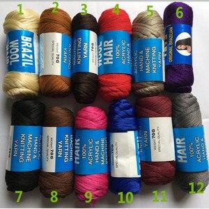 Бразильский бесплатная доставка, шерсть 14 пряди 70 г в комплекте, горячая Распродажа, для плетения волос, синтетические волосы, пряжа для пле...