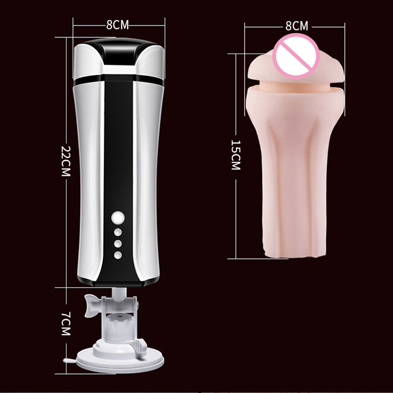 Entièrement automatique chauffage succion voix USB sexe Machine mains libres mâle masturbateur réaliste vagin vraie chatte vibrateur pour hommes - 5