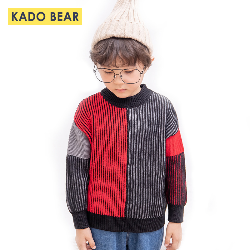Baby Girl Knit Toddler Boy Pullover Sweater Korean Winter Clothes Christmas Boys Kids Sweaters Autumn 2018 Children Fashion Tops baby boy sweater child clothes autumn knitted tops fall boys sweaters 2018 winter fake designer kids knit pullover for children