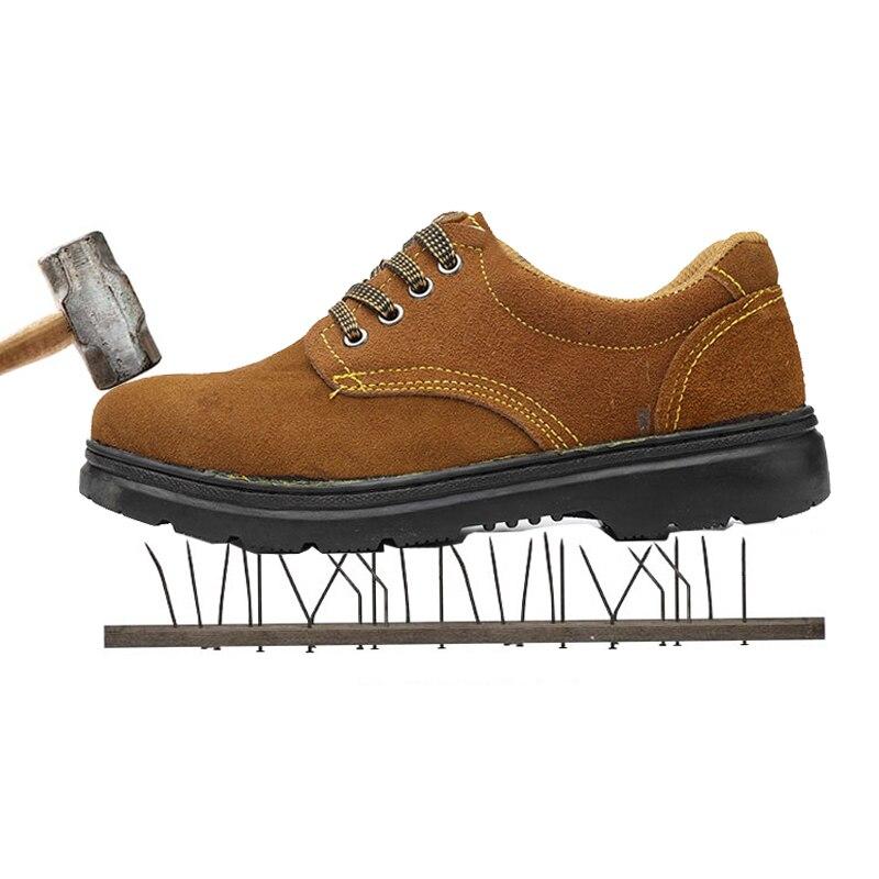 Puntale in acciaio scarpe di sicurezza stivali di sicurezza a prova di puntura lesioni scarpe di protezione scarpe da lavoro da uomo scarpe