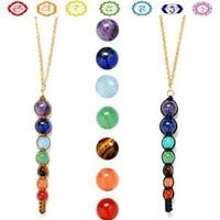 7 Chakra Beads Pendant Women Yoga Reiki Healing Balancing Choker Chain Necklace