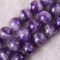 "Free Shipping New without tags Fashion Jewelry 12MM Round Natural Purple Amethyst Beads Strand 15.5"" (33  beads) RC139"
