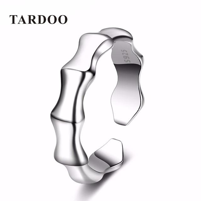 Tardoo Elegante Simples Declaração Amante Casais Anéis para As Mulheres Anel De Esqueleto de Prata Esterlina Clássico Fine Jewelry
