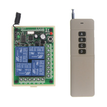 цена на 3000M DC 12V 24V 4 CH 4CH RF Wireless Remote Control Switch System,Transmitter +Receiver,315/433MHZ