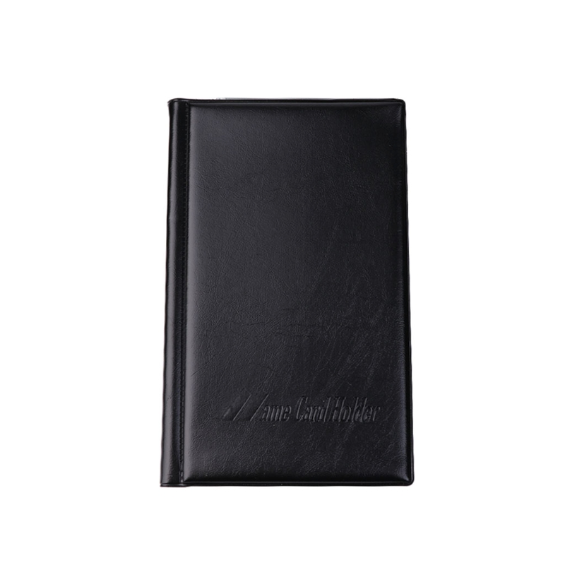 120 Cards Faux Leather Business Name ID Credit Card Holder Book Keeper Organizer D14