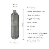 AC3011 Acecare Airforce Condor Mini Scuba Tauchen Tank Hpa 1.1L GB Pcp Carbon Faser Air Tank 4500psi Druckluft Gewehr luftgewehr