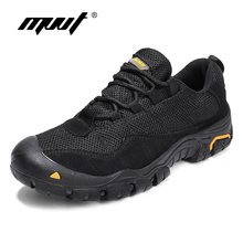 Quality Genuine Leather Shoes Men Casual 2018 Autumn Lace Up Walking Anti-Skidding Mesh Flats