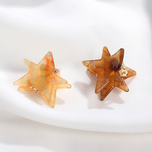 CHIMERA Star Hair Claw Crab Elegant Brown Cellulose Acetate Barrette Pins Accessories Small Hairpin Clamps for Women Girls