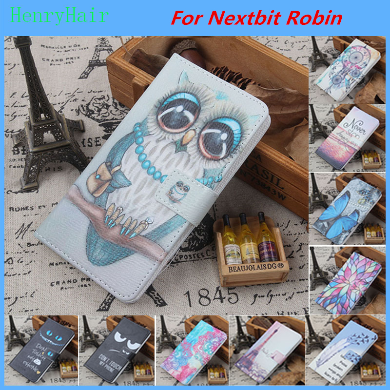 best sneakers d3f43 886d8 US $3.91 10% OFF|Hot! Cartoon Pattern PU Leather Cover Case Flip Card  Holder Cover For Nextbit Robin Wallet Phone Cases-in Flip Cases from  Cellphones ...