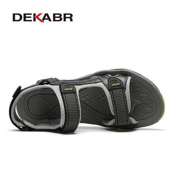 DEKABR High Quality Summer Men Sandals Real Leather NonSplit Soft Comfortable Men Shoes New Fashion Men Casual Shoes Size 39~45 1