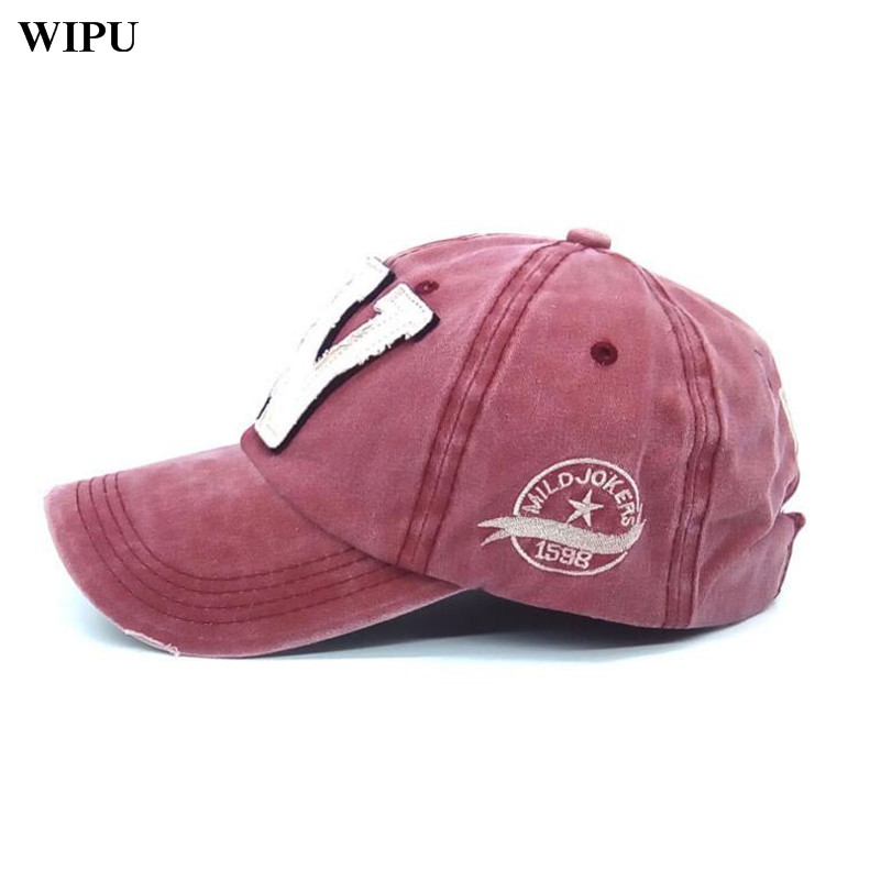 10044dba522 Cotton Embroidery Letter W Baseball Cap Snapback Caps Bone Sports Hat  Distressed Wearing Style Outdoor Hat For Men Custom Hats-in Baseball Caps  from Apparel ...