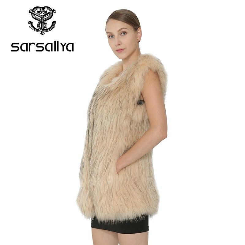 Veste Khaki Manteau Pour Vêtements En Femme Fourrure Naturel Sarsallya Chien Vraie Tricoté Raton De Mode Hiver Laveur Femmes CxodeB
