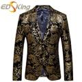 Mens blazers designs terno ouro blzaers a jaqueta slim fit vestidos para homem treino traje homme hombre blazer terno masculino