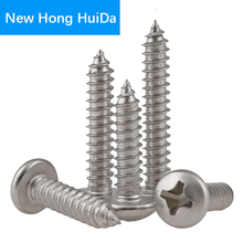 Phillips Cross Recessed Round Pan Head Metal Self Tapping Screws Thread Metric Bolts Fastener Hardware 304 Stainless Steel M6
