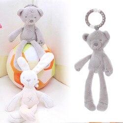 Baby Krippe Kinderwagen Spielzeug für baby 0-12 monat Kaninchen Bunny Bär Weiche Plüsch infant Puppe Mobile Bett Pram kid Tier Hängenden Ring spielzeug