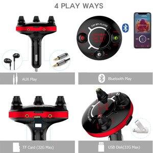 Image 5 - JINSERTA Mini Bluetooth Lettore MP3 Power ON/OFF di Controllo Modulatore FM Supporto Handsfree U Disco Carta di TF AUX Giocare auto del Giocatore di Musica