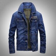 Brand jeans jacket Spring Autumn mens jackets and coats fashion European cowboy style denim jacket men jaqueta jeans masculina