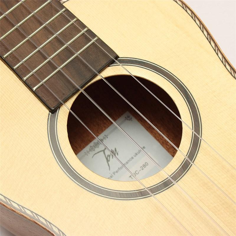 Tom TUC-280E 23 Pulgadas Ukulele Solid Spruce Top Caoba Instrumentos Musicales G