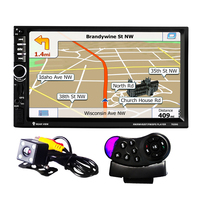 7020G 2 Din Car MP5 Player with Rearview Camera Bluetooth FM GPS 7