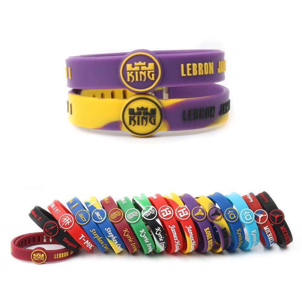 LA Lebron James Harden Iving Jordan basketball player women men kids  silicone bracelets sports wristbands adjustable Bangles  9bc550627a