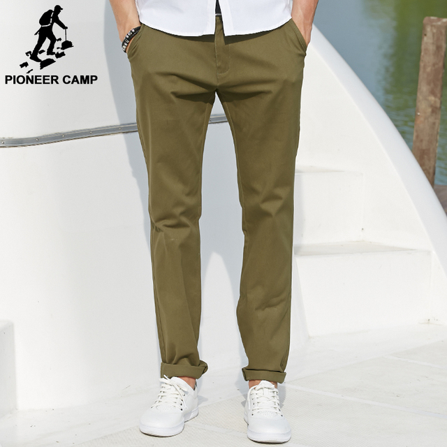 Pioneer Camp 2017 new spring autumn fashion casual pants men 100%cotton male khaki pants straight trousers comfortable 471585