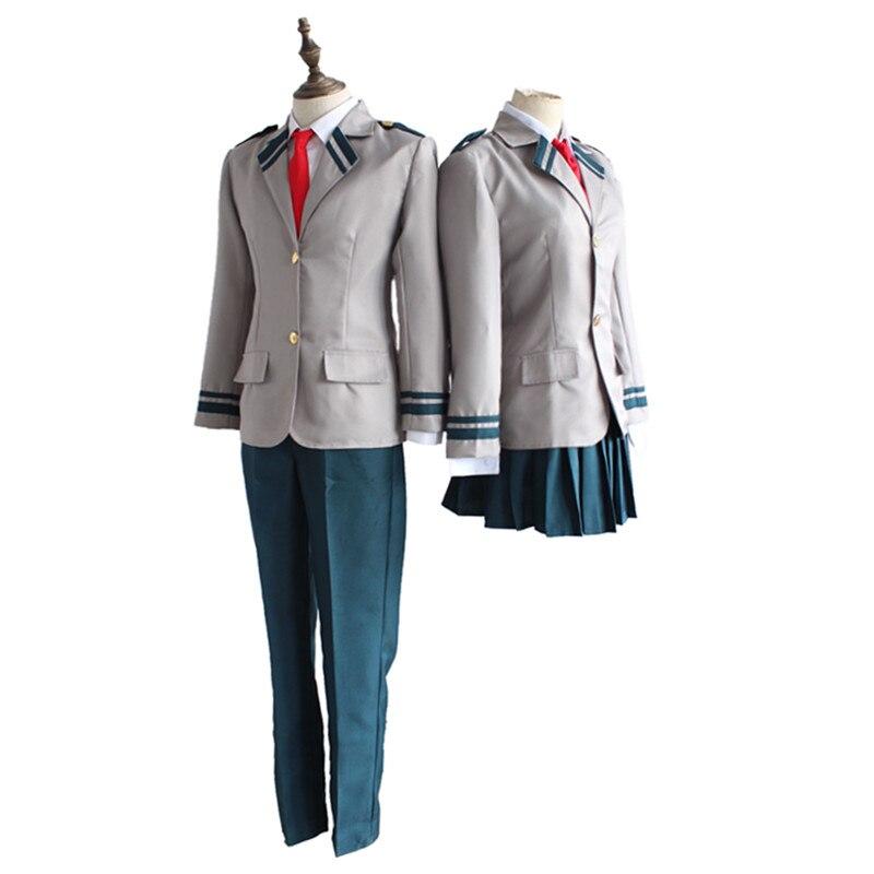 Boku no Hero Academia OCHACO URARAKA Midoriya Izuku cosplay Costumes My Hero Academia Asui Tsuyu Yaoyorozu Momo School Uniform