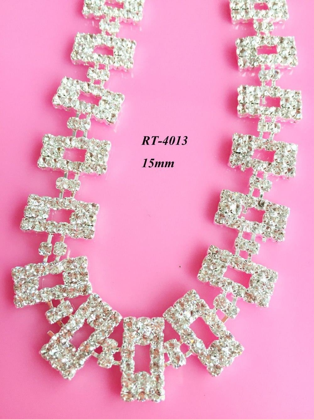 ᗚFree shipping 1yard DIY rhinestone trimming for bridal neckline ...