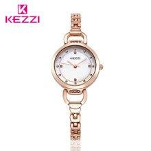 100% KEZZI top brand luxury women quartz-watch stainless steel ladies Analog bracelet watch women montre femme de clock kw-1488