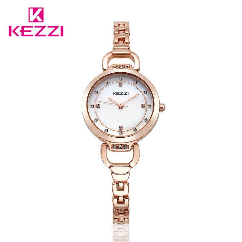 100 kezzi top top brand luxury women quartz watch stainless steel ladies ladies analog. Black Bedroom Furniture Sets. Home Design Ideas