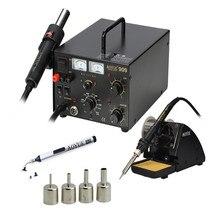 AOYUE 909 3 in 1 rework istasyonu sıcak hava tabancası + havya + güç kaynağı 600 W Cep telefonu tamir aracı