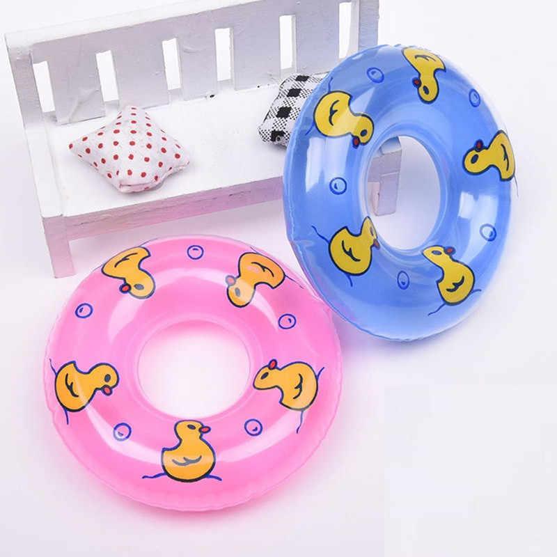 1 個新かわいいミニ水泳ブイ Lifebelt リングのために人形アクセサリー baby born 人形アクセサリー赤ちゃんのおもちゃ最高のギフト 2 色