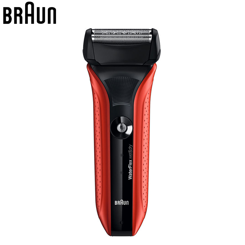 Braun Electric shavers Wf2s Rechargeable Wet & dry Waterflex Safety Red Shaver Shaving Razor Fully Washable with swivel head hualing rscw 298 wet dry lady shaver red brown