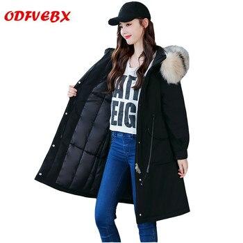 2020 winter new women's Parker cotton coatswaist fashion ladies' clothing medium long section Down jacket jackets Female tide