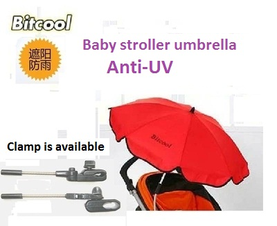 Bitcool Umbrella for Baby Stroller Portable Folding Removable Sunshade Umbrella Pushchair Pram Parasol for Infant Sun Protection