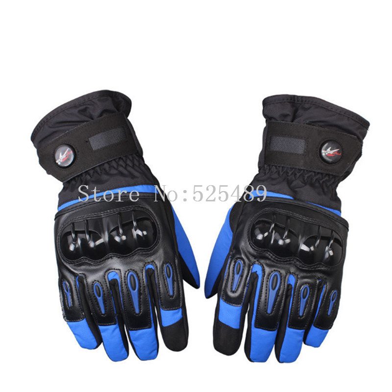 guantes moto luvas da motocicleta Winter Waterproof Warm Touch Screen Leather Gloves Outdoor Motorcycle Motocross Racing Gloves