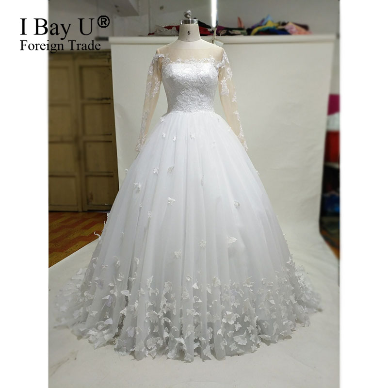Samples Of Wedding Gowns: Aliexpress.com : Buy Each Butterfly Is Sewed Real Sample