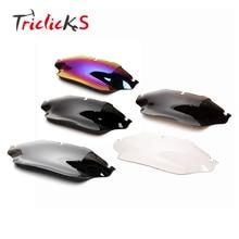 купить Triclicks 8 Wave Windshield Windscreen Motorcycle Wind Air Deflector Spoiler For Harley Electra Street Glide Classic 1996-2013 дешево