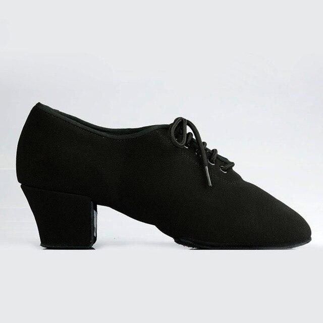 Women Latin Dance Shoes Ladies Teaching Shoes T1b Split sole Canvas Professional Ballroom Dance Shoe Square Heel Dancesport
