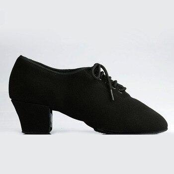 Zapatos de baile latino para mujer zapatos de enseñanza para mujer T1b suela dividida lienzo zapatos de baile de salón de baile zapatos de tacón cuadrado
