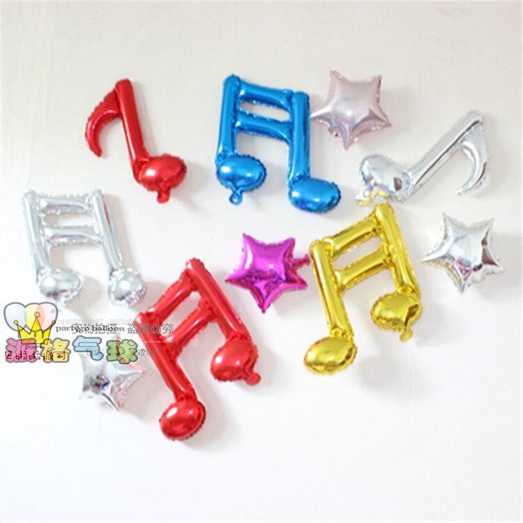 10 unids/lote música tema decoraciones del partido globos, festival musical estr
