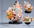 Merry Thousand Sunny Nissan No. Barco Barco Pirata Modelo de Una Pieza de PVC Figura de Acción de Juguete Regalos de Navidad Decoraciones de Coches